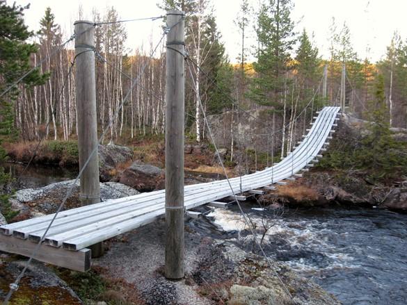 Hängbro i Bastuklumpens naturreservat. Foto: Christian Ortner